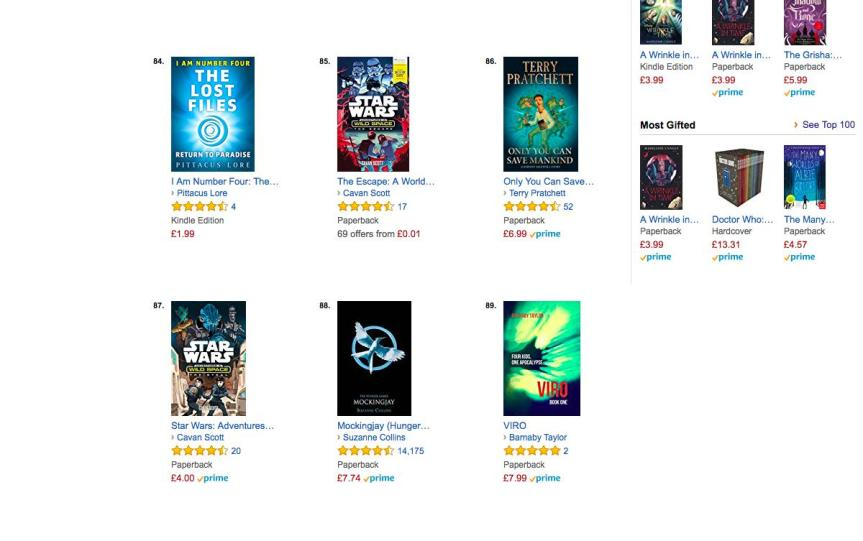 Amazon co.uk Best Sellers_ The most popular items in Science Fiction Adventures for Young Adults