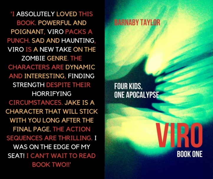 I absolutely loved this book. Powerful and poignant, 'Viro' packs a punch. Sad and haunting, 'Viro' is a new take on the zombie genre.The characters are dynamic and interesting, finding