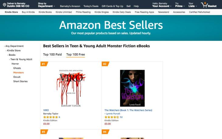 Amazon co.uk Best Sellers_ The most popular items in Teen & Young Adult Monster Fiction eBooks (2)